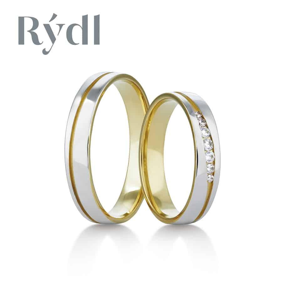 Snubní prsteny - model č. 418/02 mat (satén) / lesk