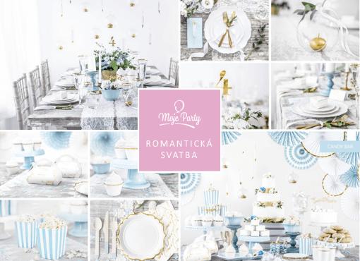 Svatba v romantické modré barvě dusty blue
