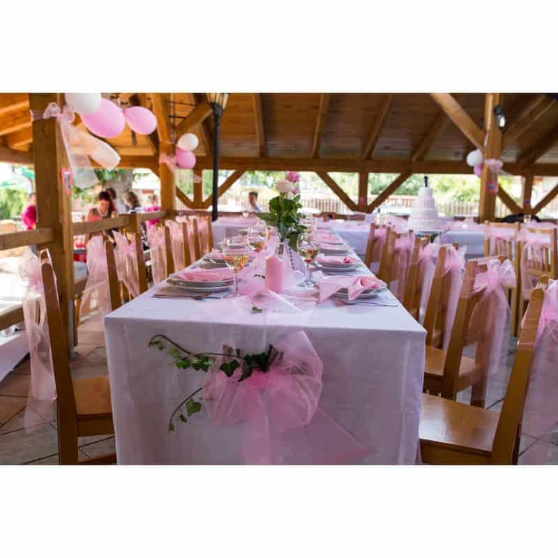 Růžová svatba - Svatební dekorace PCE