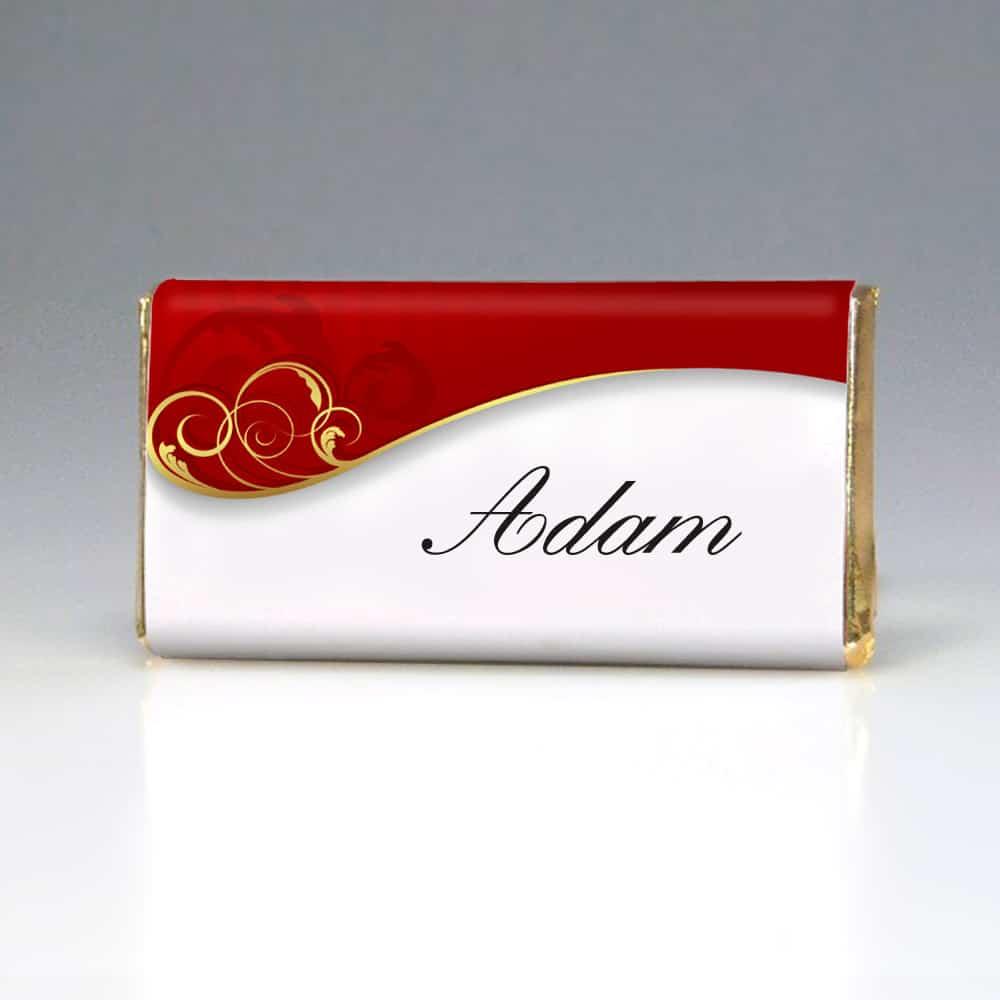 Svatební čokoládka jmenovka - Dekor