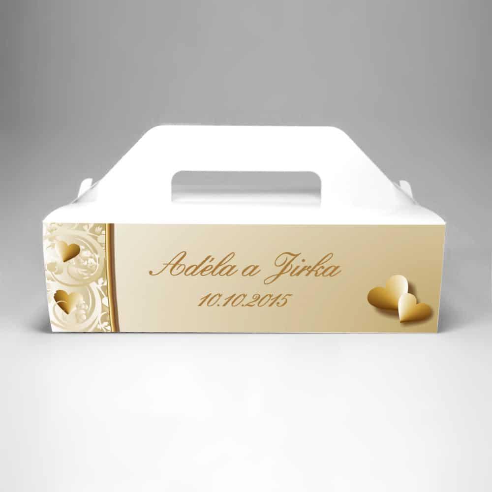Krabička na výslužku s potiskem - Elegance