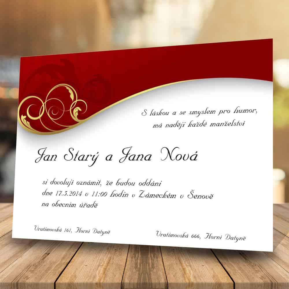 Svatební oznámení levně - Dekor
