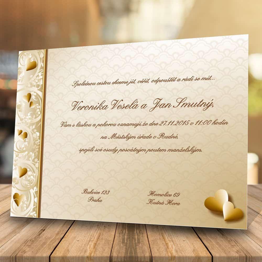 Svatební oznámení levně - Elegance