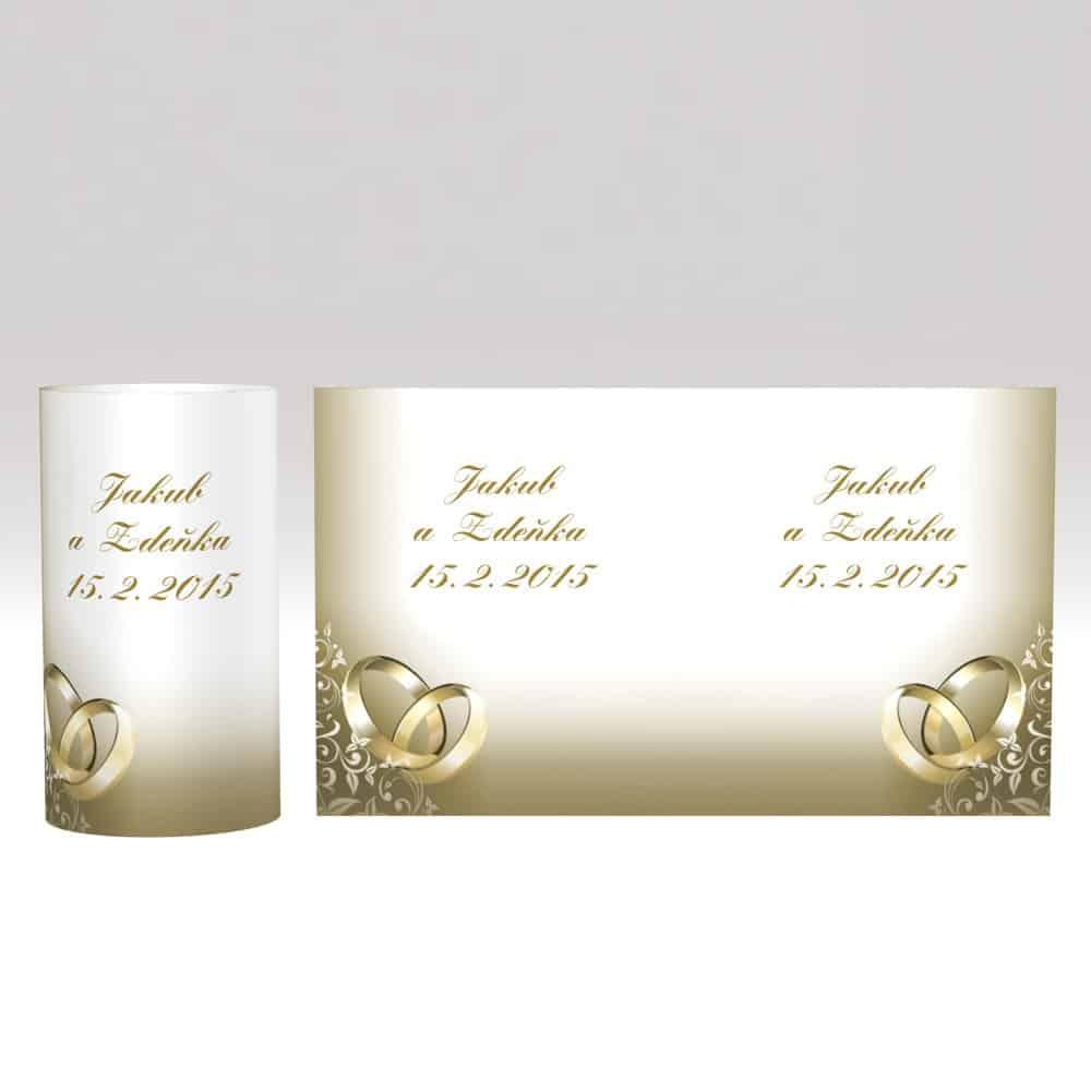Svíčka se stínítkem - Zlaté prsteny