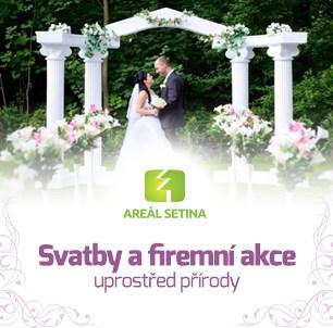 Svatba v přírodě kousek od Ostravy v penzionu Setina