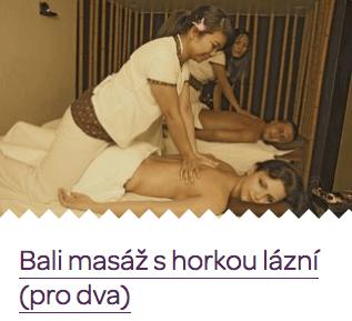 Originální svatební dar - Bali masáž s horkou lázní