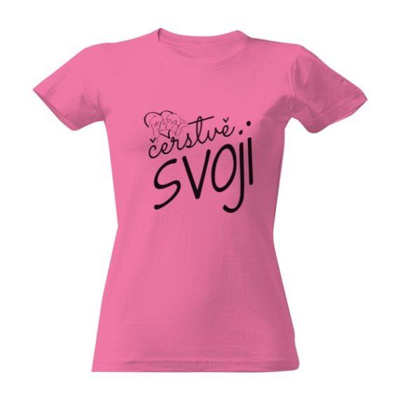 """Svatební tričko s nápisem """"čerstvě svoji"""" pro nevěstu"""