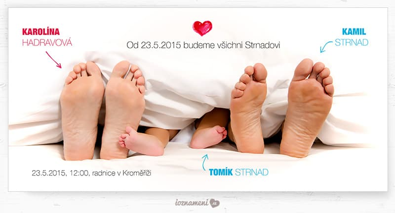 iOznameni.cz - Svatební oznámení - jsme 3
