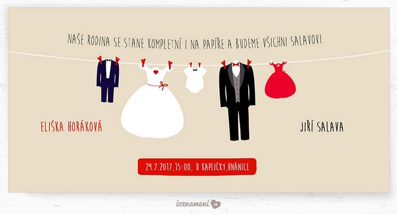 iOznameni.cz - Svatební oznámení - rodina Salavovi