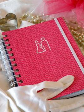 Svatební diář smart obálka růžová
