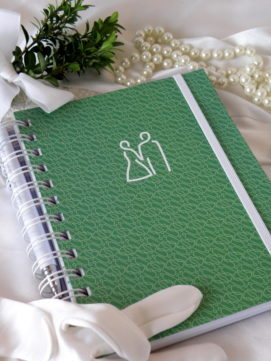 Svatební diář smart obálka zelená