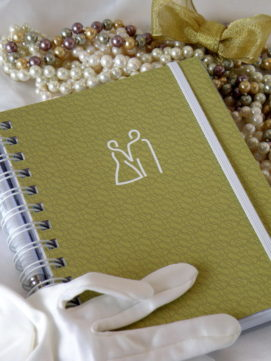 Svatební diář smart obálka zlatá
