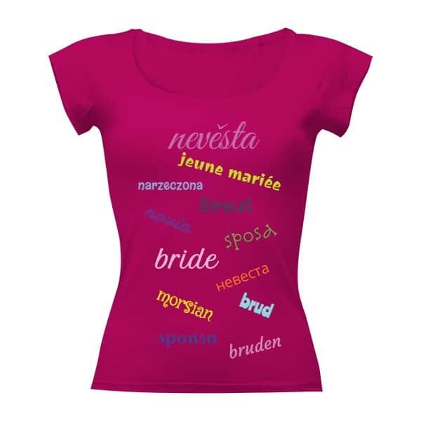 Tričko pro nevěstu mezinárodní