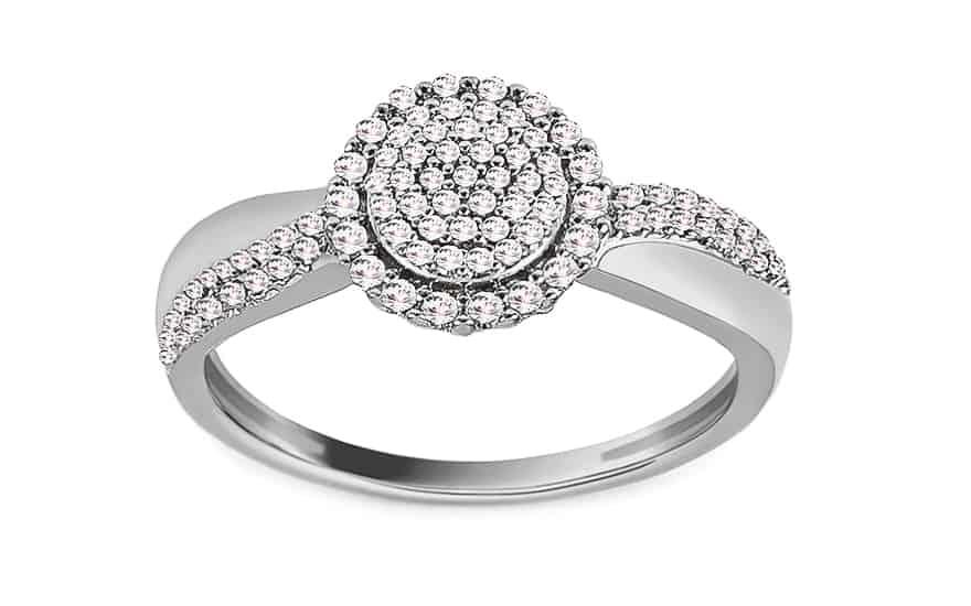 Zásnubní diamantový prsten z bílého zlata 0.200 ct Zélia