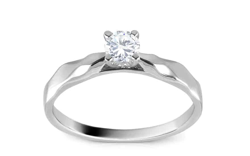 Zásnubní prsten s brilianty 0,260 ct