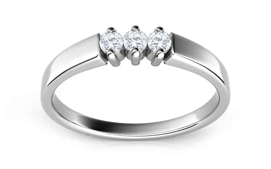 Zásnubní prsten s 0,150 ct diamanty Island rains