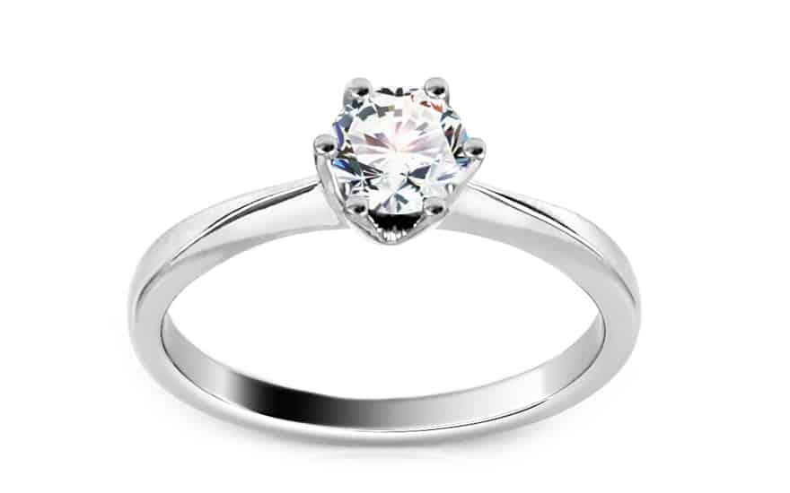 Zásnubní prsten z bílého zlata s diamantem 0.560 ct Arella