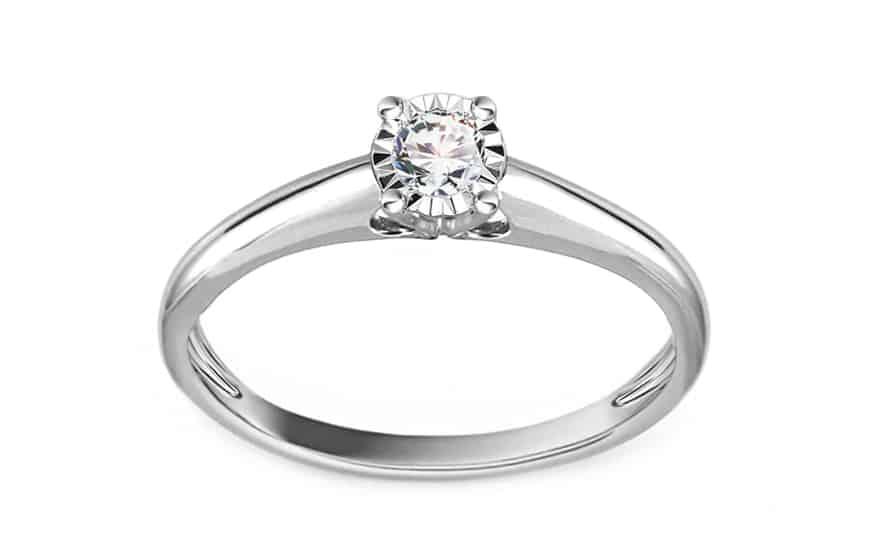 Zlatý zásnubní prsten s diamantem 0,130 ct Nichol