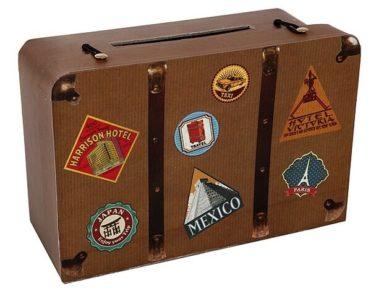Cestovní kufr na svatební přání a peníze