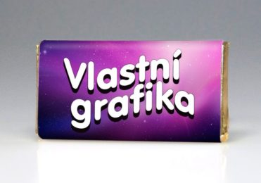 Svatební dárek či čokoládová jmenovka s vlastním textem i grafikou