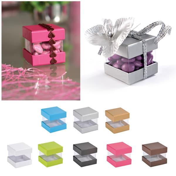 Barevné dárkové krabičky 4x4x4cm