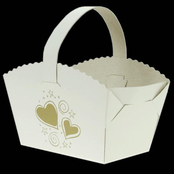 Košíček na svatební výslužku - Bezděz srdce