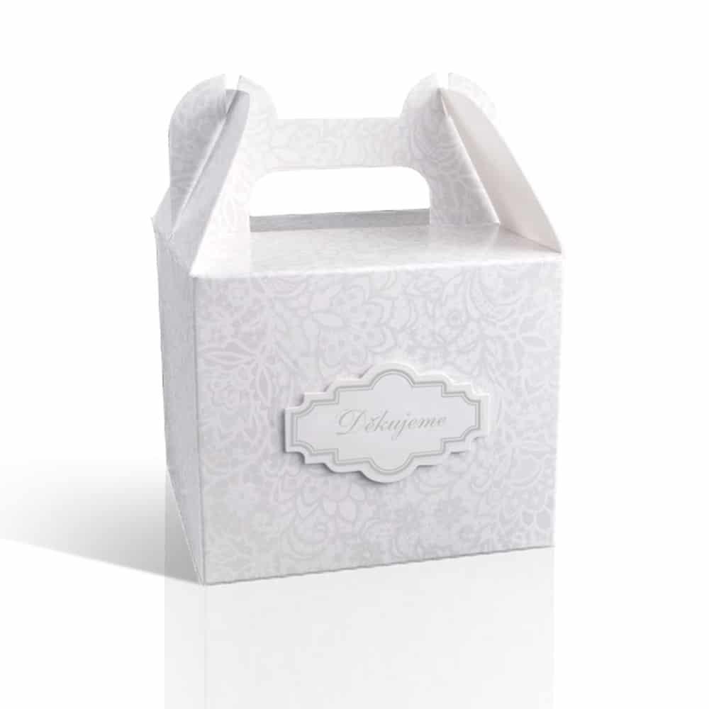 Krabička na výslužku s ouškem - šedá