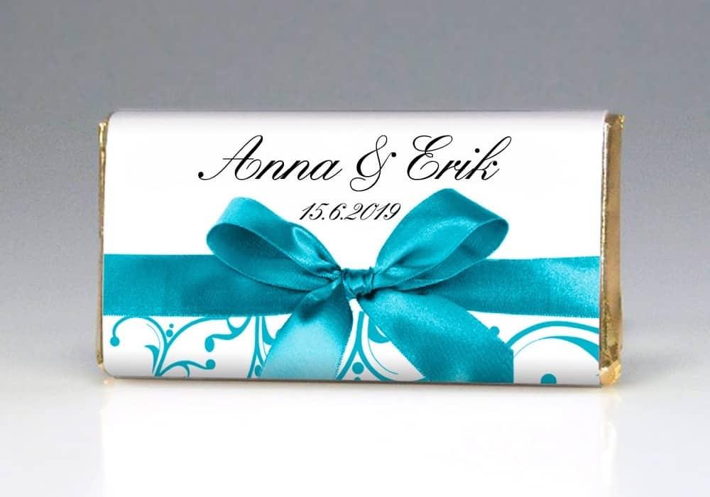 Dárek pro svatební hosty - čokoládka MAŠLE - přední strana