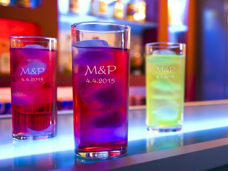 Svatební skleničky na long drink s gravírováním 300 ml