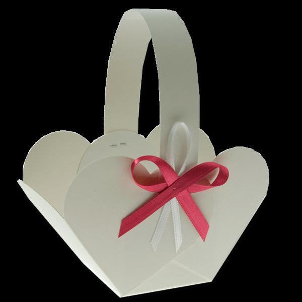 Košíček na svatební výslužku - Sychrov s vývazkem
