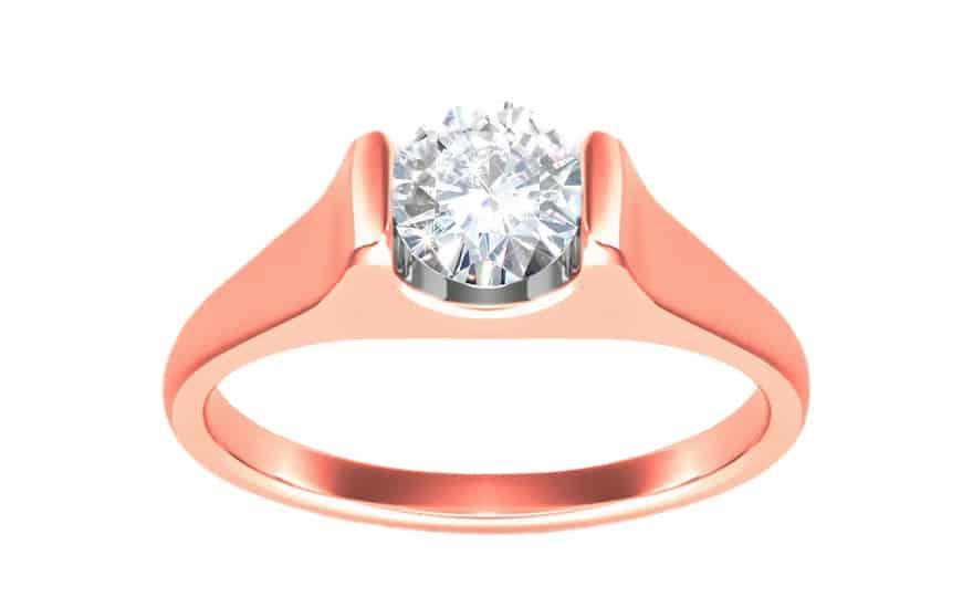 Zásnubní prsten s 0,250 ct diamantem Magic Forever pink