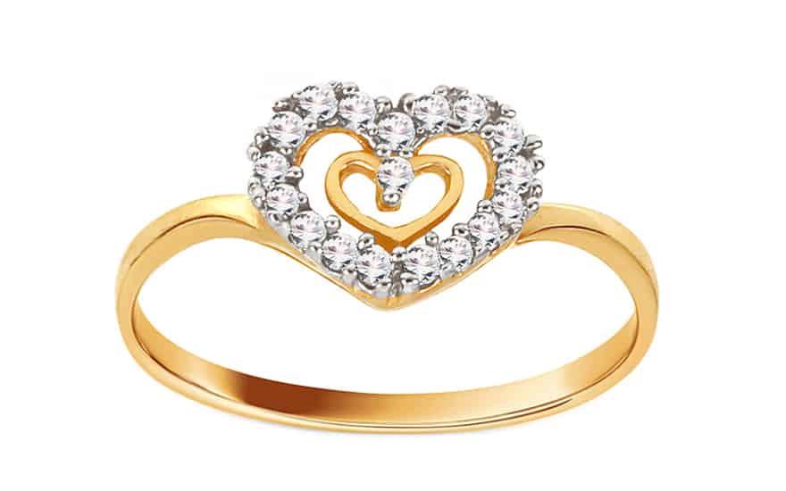 Zlatý zásnubní prsten Anabel 1, model: CSRI901