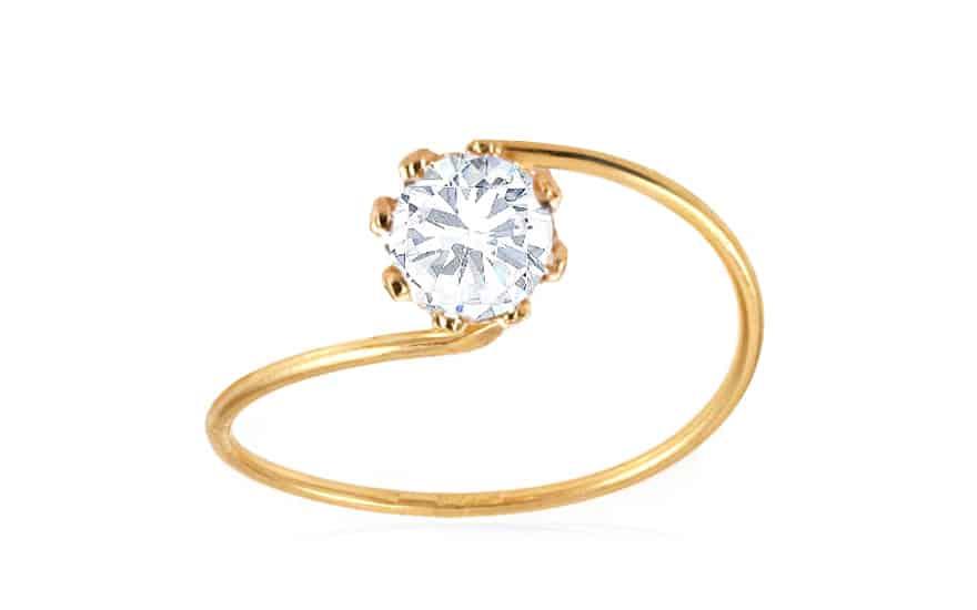 Zlatý dámský zásnubní prsten, model: IZ3068