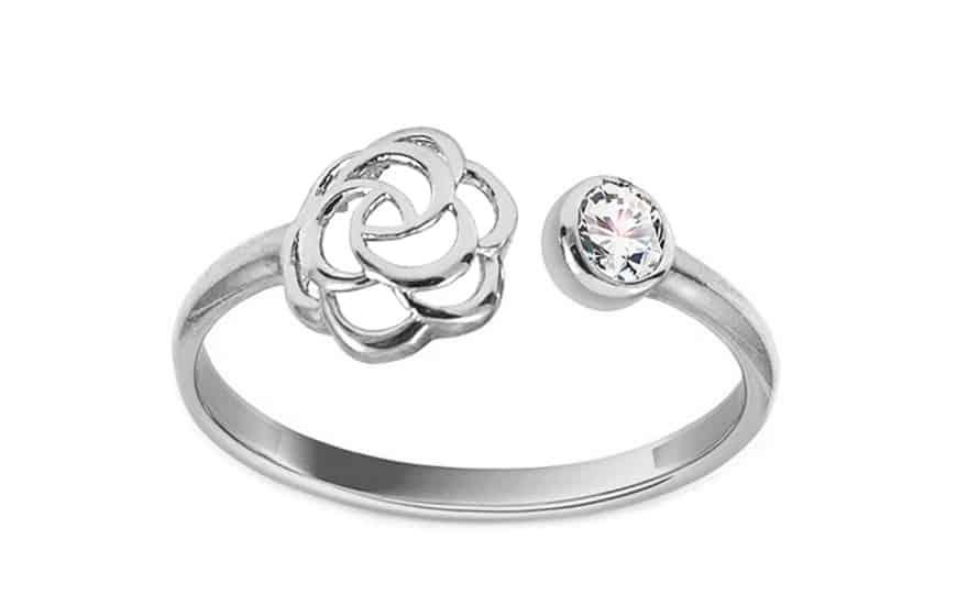 Zlatý prsten Flexi red se zirkony, model: IZ9412, model: IZ11377A