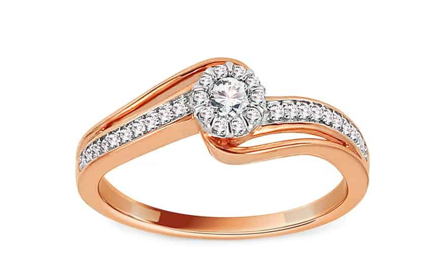 Zlatý zásnubní prsten s diamanty 0,240 ct Alyce