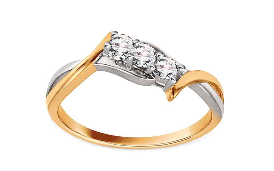 Zlatý zásnubní prsten s diamanty Farah