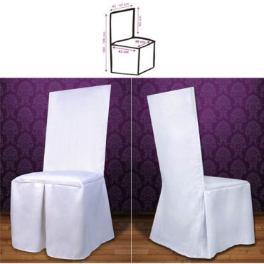 Saténový potah na židle Agame bílá
