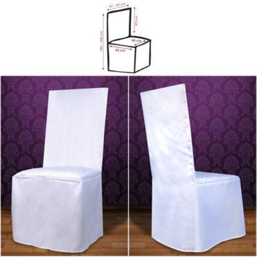 Saténový potah na židle Monty bílá