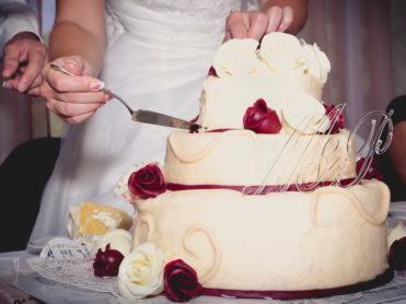 Svatební písmena, monogramy na dort v čiré