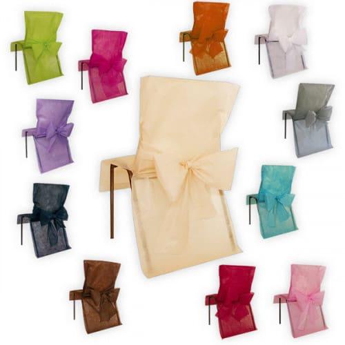 Svatební potahy na židle barevné varianty
