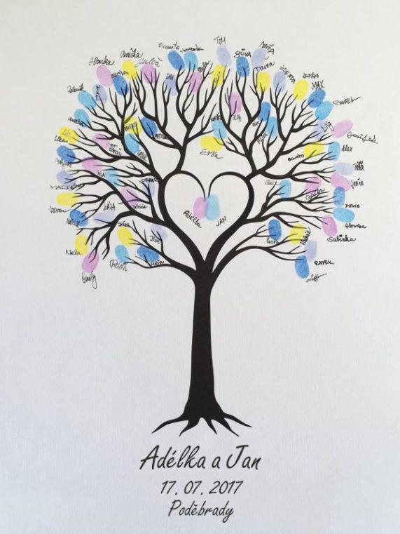 Svatební strom se jmény 53 x 73 cm