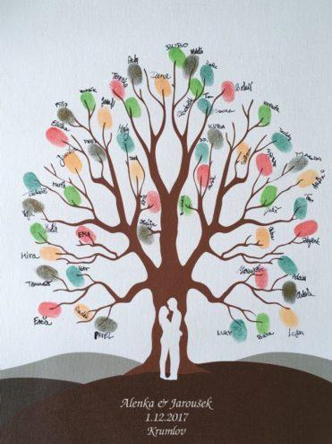 Svatební strom se jmény 43 x 53 cm pro 40 až 80 hostů