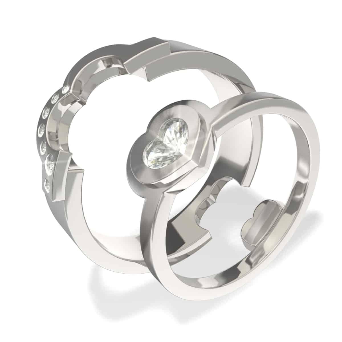 Zlatnictví Kalaš snubní prsteny 5023 bílé zlato