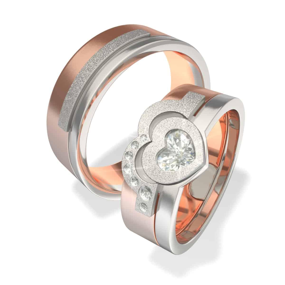 Zlatnictví Kalaš snubní prsteny 5023 růžové zlato