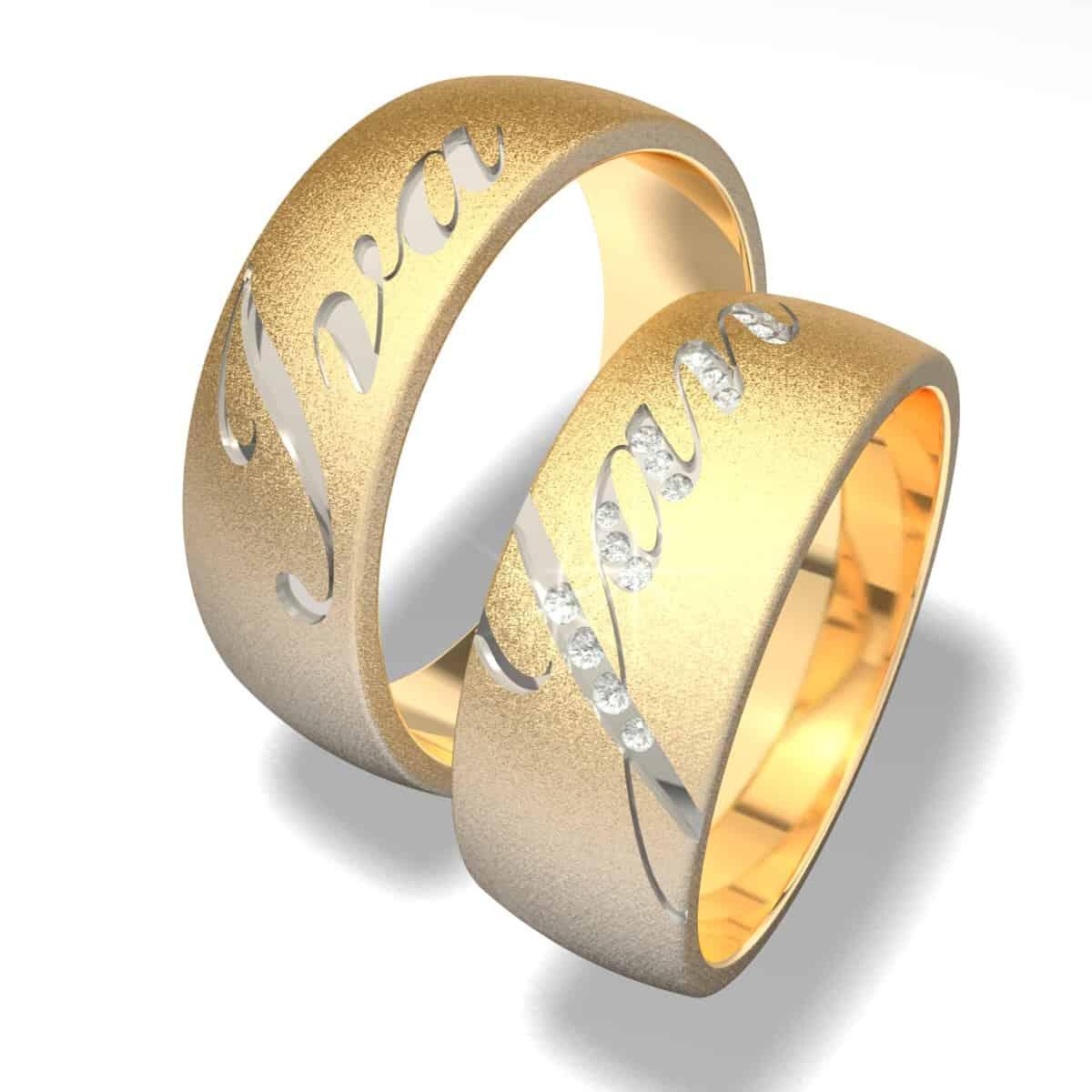 Zlatnictví Kalaš snubní prsteny 8008