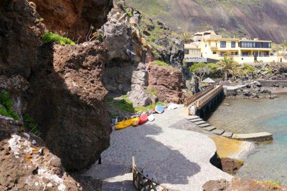 El Hierro - Tamaduste - záliv a veřejné lázně, foto 1
