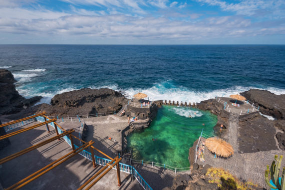 La Palma - Charco azul - bazén s přírodní mořskou vodou
