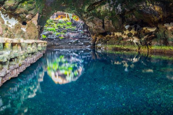Lanzarote - krásné jeskyně Jameos del Agua