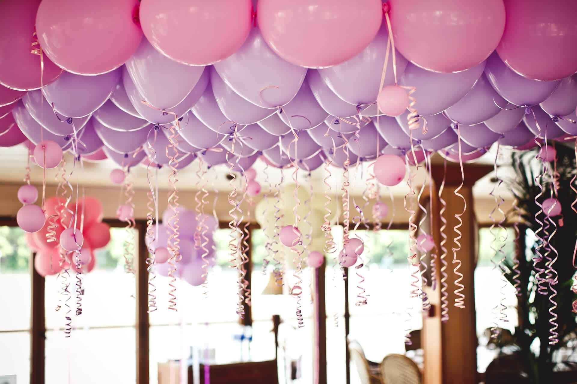Balónková svatební výzdoba na párty