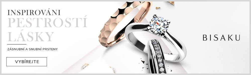 Bisaku - snubní a zásnubní prsteny